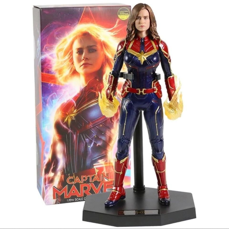 Action Figure Captain Marvel (Capitã Marvel) Sem Máscara  1/6 - Marvel - Empire Toys