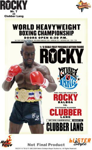 Action Figure Clubber Lang: Rocky III (MMS20) Escala 1/6 (Boneco Colecionável) - Hot Toys