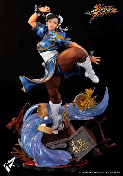 PRÉ VENDA: Estátua Diorama Chun-Li :Street Fighter V Escala 1/4 - Kinetiquettes