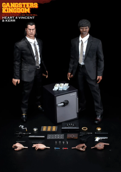 Action Figure Colecionável Heart 4 Vincent & Kerr: Pulp Fiction Tempo de Violência Gangsters Kingdom Escala 1/6 - EVALI
