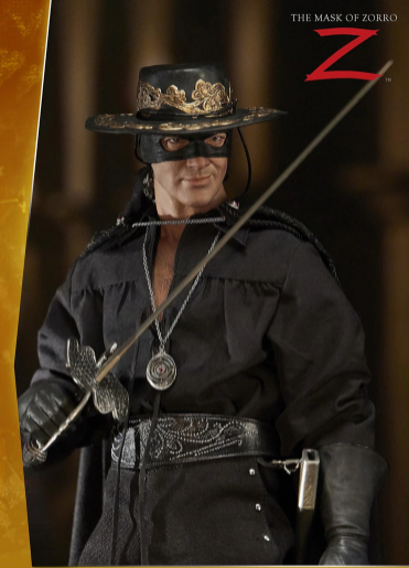 Action Figure Colecionável Zorro: A Máscara do Zorro The Mask of Zorro 1998 Escala 1/6 - EVALI