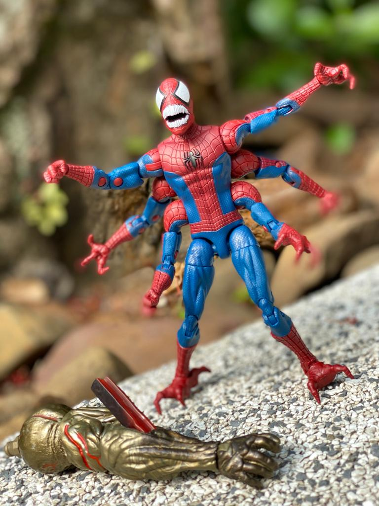 Action Figure Contraparte Aranha (Doppelganger Spider-Man): Homem-Aranha (Spider-Man) Marvel Legends Series - Hasbro