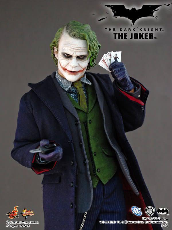 Action Figure Coringa (Joker): Batman O Cavaleiro das Trevas (The Dark Knight) Escala 1/6 (MMS68) Boneco Colecionável - Hot Toys