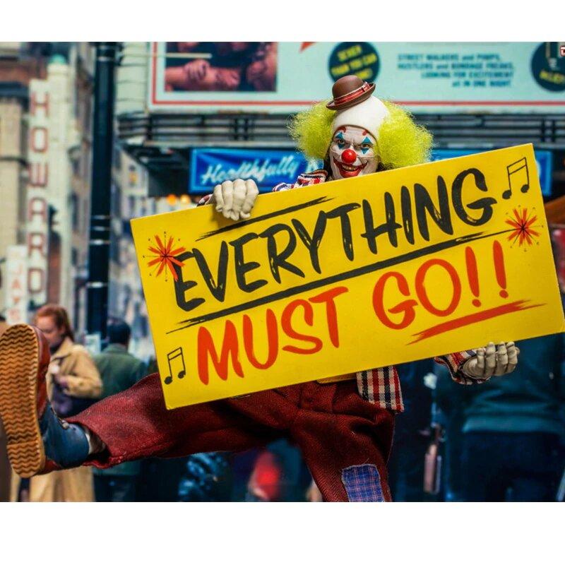 Action Figure Coringa (Joker) Joaquin Phoenix (The Humorist Happy Face): ''Everything Must Go!! Escala 1/6 - Toys Era