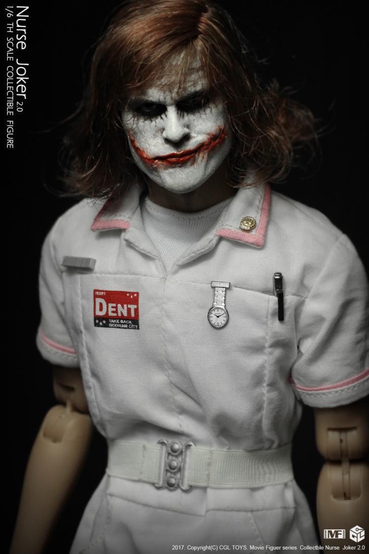 Action Figure Coringa (Joker Nurse): Batman O Cavaleiro das Trevas (The Dark Knight) Escala 1/6 - CGL TOYS