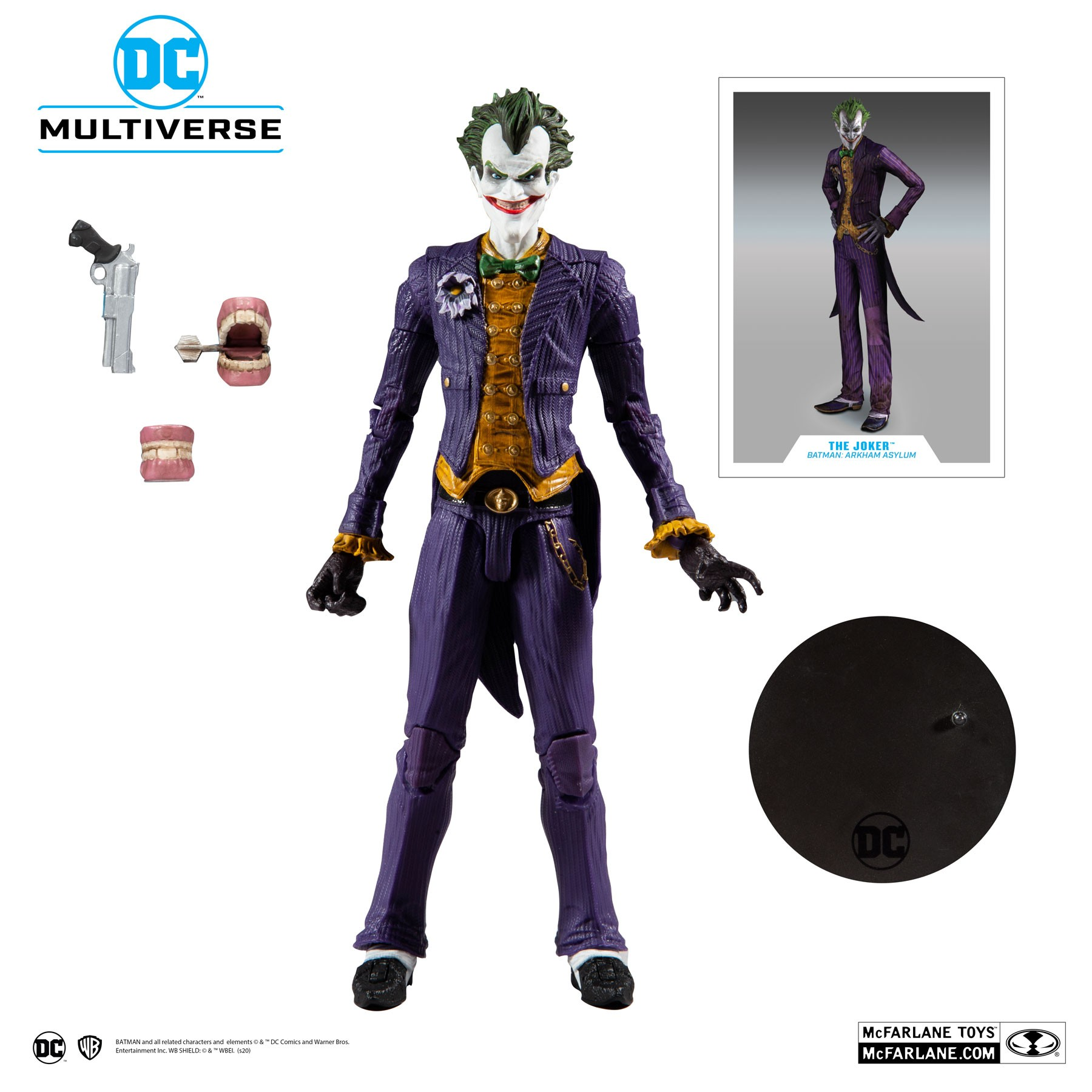 Action Figure Coringa (The Joker): Batman Arkham Asylum (DC Multiverse) - McFarlane Toys