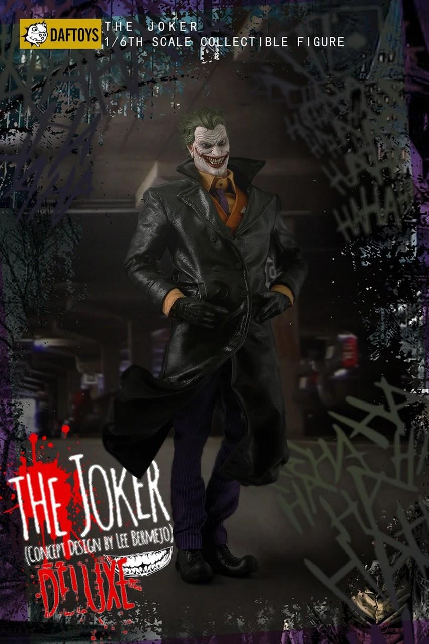 Action Figure Coringa (The Joker): DC Comics (Concept Design By Lee Bermejo) Escala 1/6 - DafToys