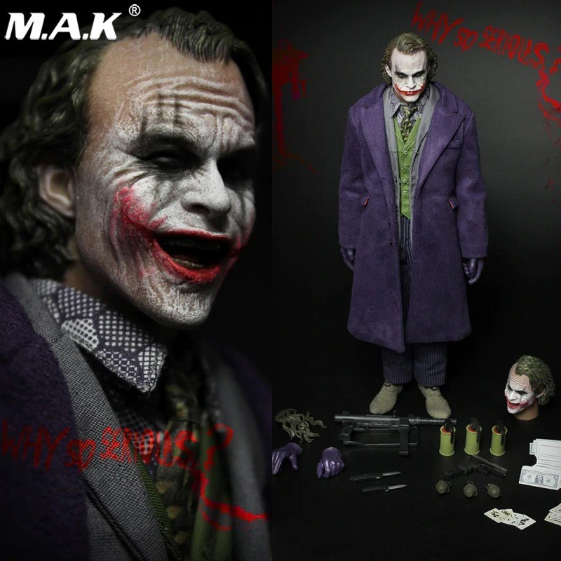 Action Figure Coringa The Joker: O Cavaleiro Das Trevas The Dark Knight Escala 1/6 - Fire A001 M.A.K - ET