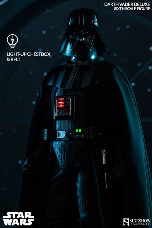 Action Figure Darth Vader: Star Wars Deluxe Escala 1/6 - Sideshow Collectibles