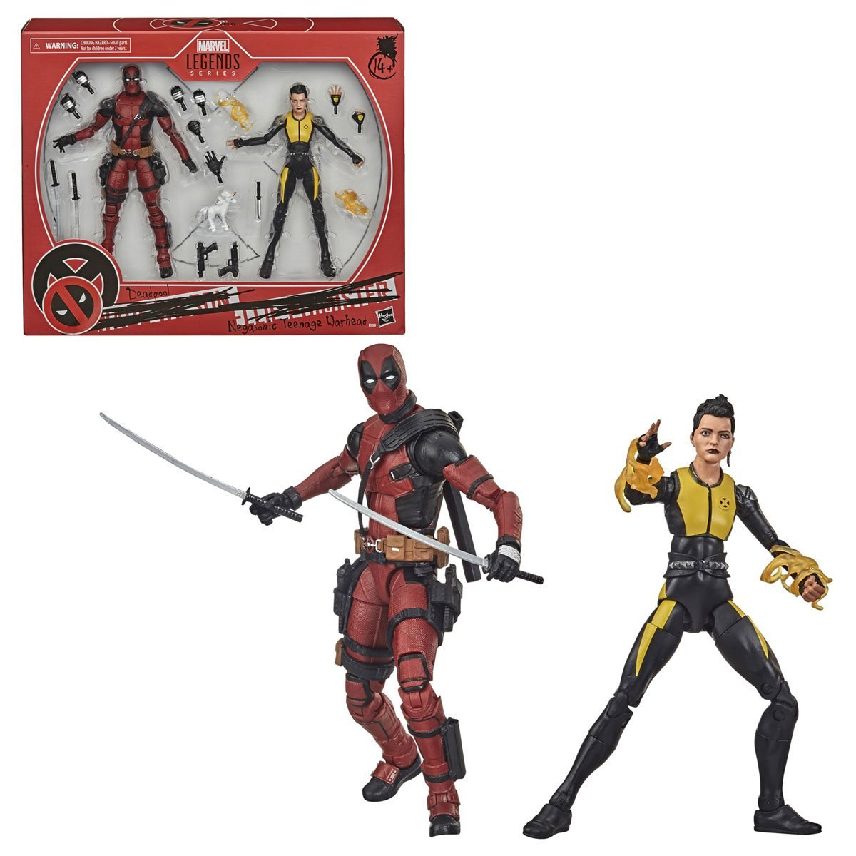 Action Figure Deadpool e Negasonic Teenage Warhead: Marvel Legends Series - Hasbro