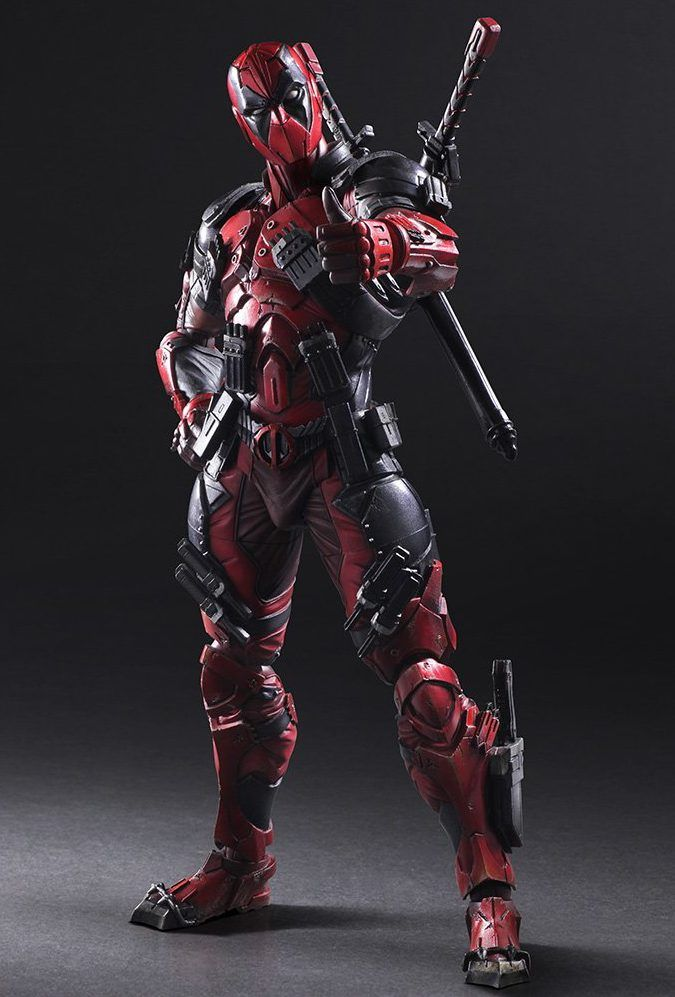 Action Figure Deadpool Vingadores Avengers Marvel Kai Escala 1/6 Play Arts  - EVALI