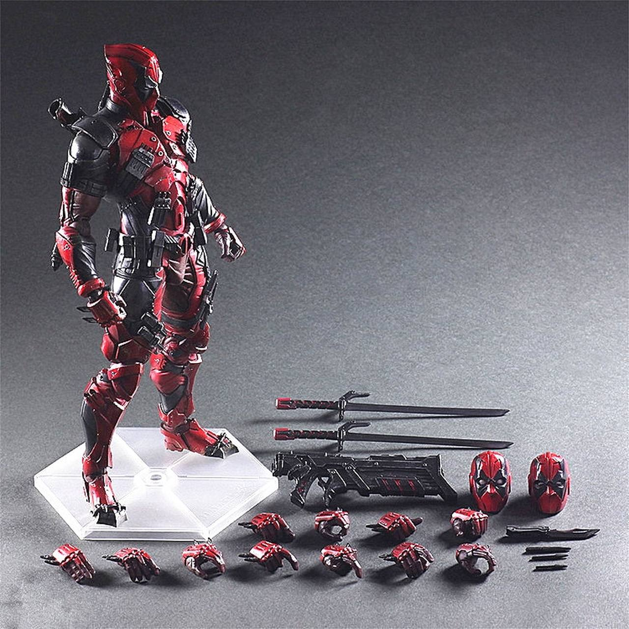 Action Figure Deadpool Vingadores Avengers Marvel Kai Escala 1/6 Play Arts  - EVALI