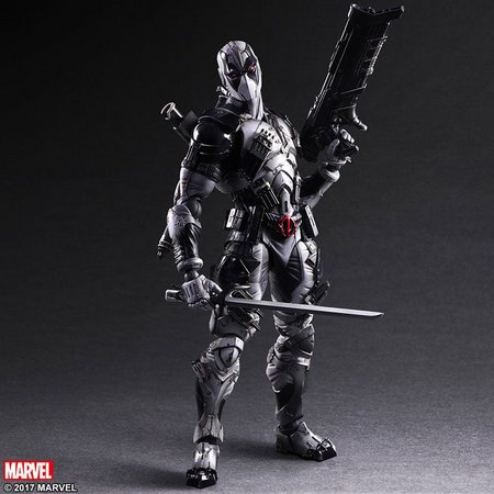 Action Figure Deadpool X-Force Vingadores Avengers Marvel Kai Escala 1/6 Play Arts  - EVALI