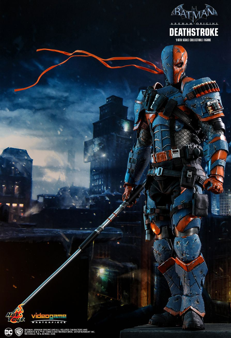 Action Figure Deathstroke: Batman Arkham Origins (Videogame Masterpiece) Escala 1/6 (VGM30) Boneco Colecionável - Hot Toys