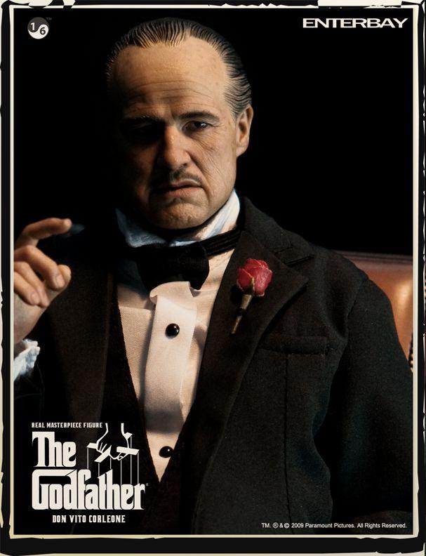 Action Figure Don Vito Corleone: O Poderoso Chefão (The Godfather) Boneco Colecionável (Escala 1/6) - Enterbay - CG