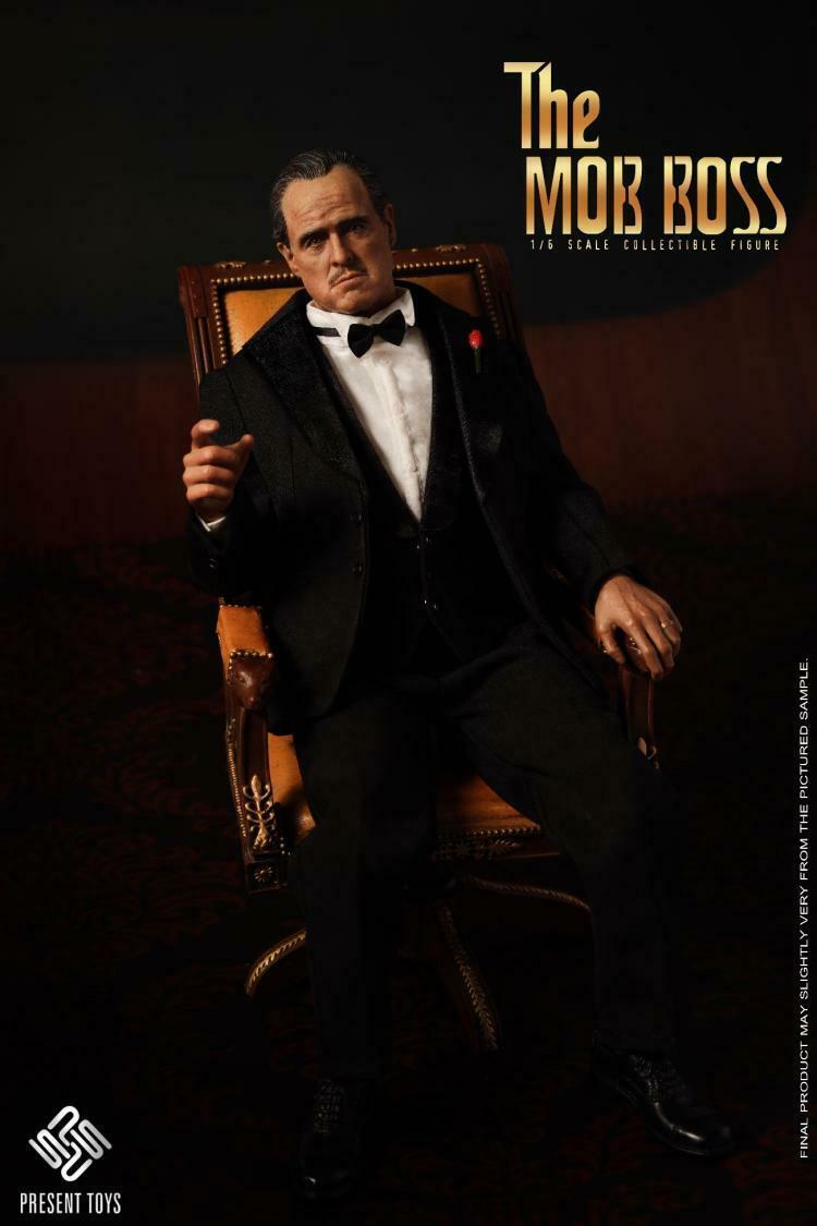 Action Figure Don Vito Corleone: O Poderoso Chefão The Godfather Escala 1/6 - The Mob Boss