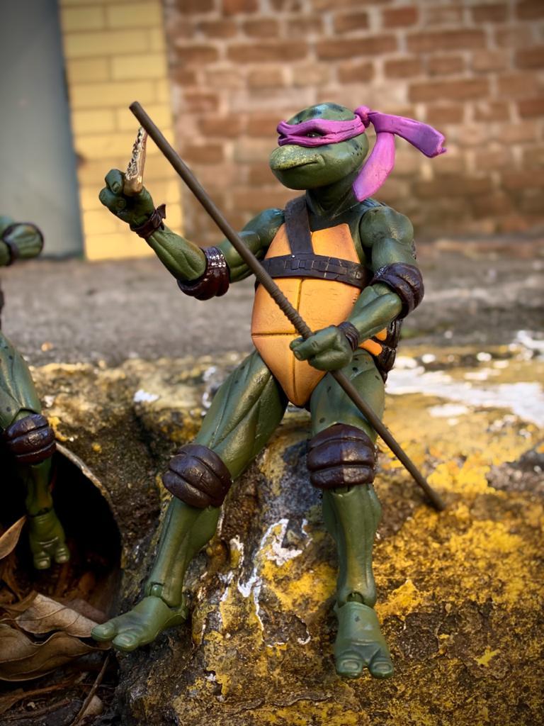 Action Figure Donatello Tartarugas Ninja Teenage Mutant Ninja Turtles 1990  Escala 1/12 - NECA