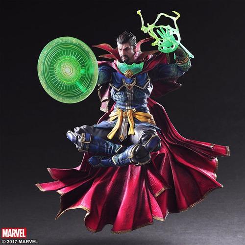 Action Figure Doutor Estranho Doctor Strange Vingadores Avengers Marvel Kai Escala 1/6 Play Arts - EVALI