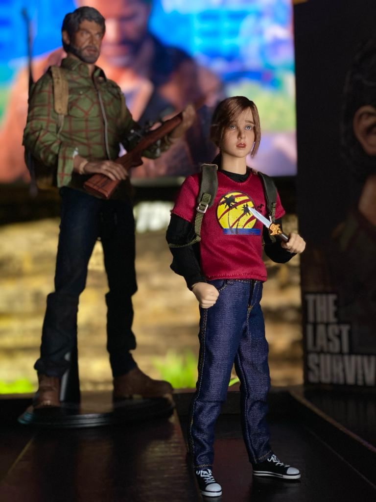 Action Figure Ellie The Last Survivor Summer Version: The Last Of Us Escala 1/6 - CG Toys