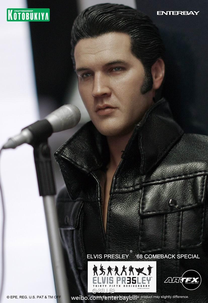 Action Figure Elvis Presley '68s Escala 1/6 - Kotobukiya & Enterbay