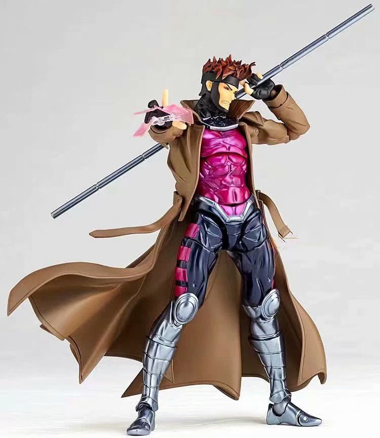 Action Figure Gambit Remy Etienne LeBeau: X-Men Marvel Comics Figure Complex Amazing Yamaguchi Escala 1/12 - Figma