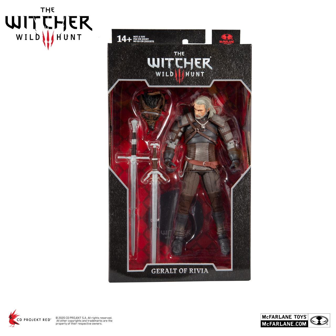 Action Figure Geralt De Rivia: The Witcher 3 Wild Hunt 31 cm - MCFarlane Toys