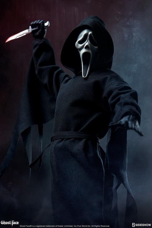 """PRÉ-VENDA: Action Figure """"Ghost Face"""": Pânico (Scream) (Escala 1/6) - SideShow"""