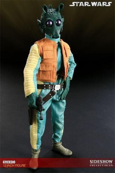 Action Figure Greedo Bounty Hunter: Scum e Villainy Star Wars Escala 1/6 - Sideshow Collectibles