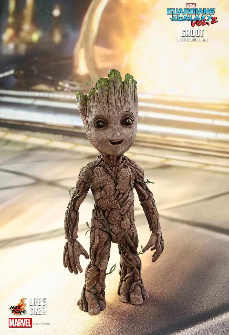 Action Figure Groot (Life-Size): Guardiões da Galáxia Vol. 2 (Guardians of the Galaxy Vol 2) Boneco Colecionável (LMS004) - Hot Toys