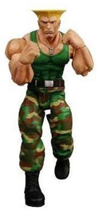 Action Figure Guile (Player Select): Street Fighter IV - NECA