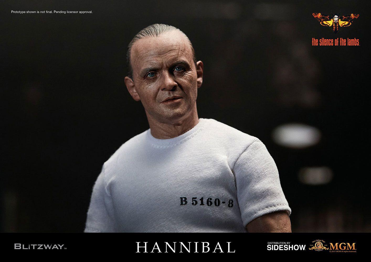 Action Figure Hannibal Lecter (White Prison Uniform Version): O Silêncio dos Inocentes (The Silence of the Lambs) Escala 1/6 - Boneco Colecionável - Blitzway