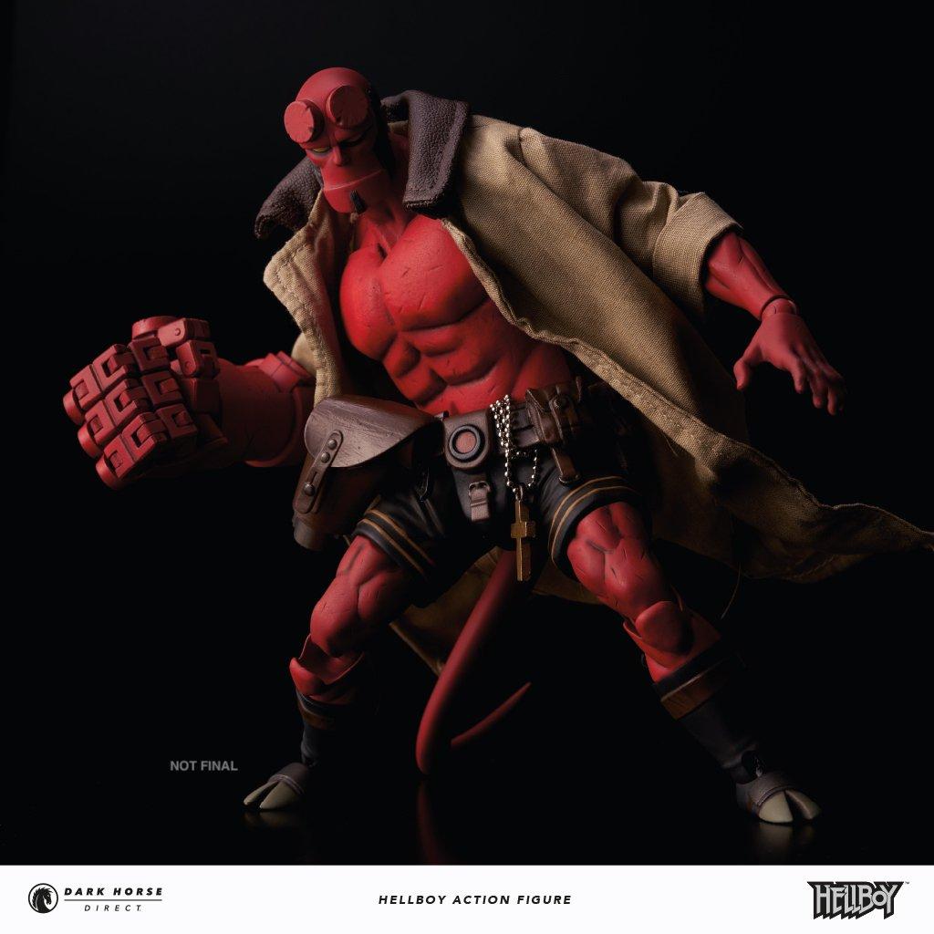 Action Figure Hellboy Clássico HQ Escala 1/12 Dark Horse Comics - 1000Toys