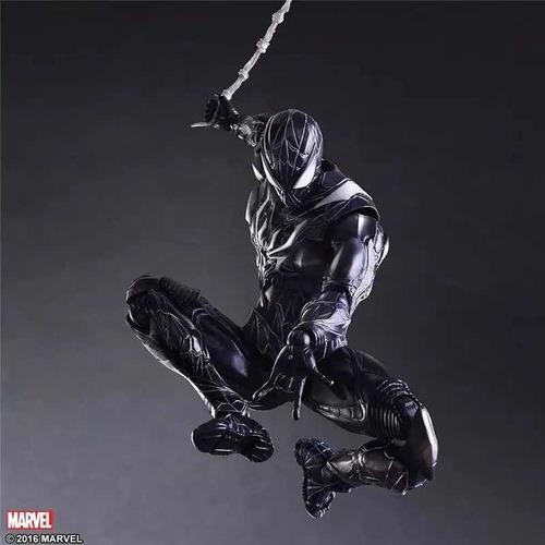 Action Figure Homem Aranha Spider Man Simbionte Vingadores Avengers Marvel Kai Escala 1/6 Play Arts  - EVALI