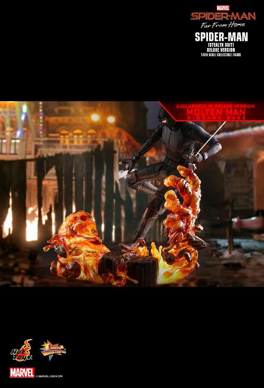 PRÉ VENDA: Action Figure Homem-Aranha (Spider-Man Stealth Suit) Deluxe :Homem-Aranha Longe de Casa (Far From Home) (MMS541) Escala 1/6 Boneco Colecionável - Hot Toys