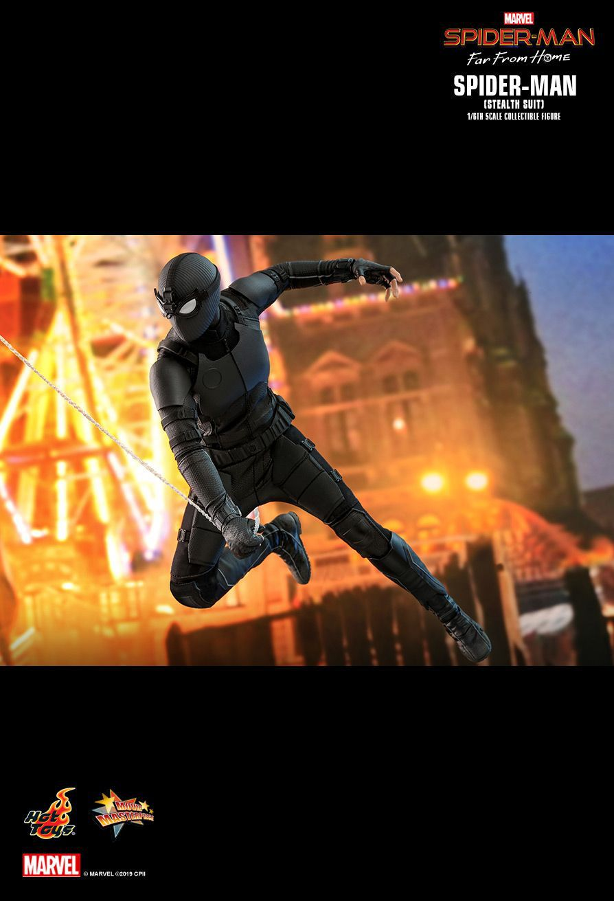 PRÉ VENDA: Action Figure Homem-Aranha (Spider-Man Stealth Suit): Homem-Aranha Longe de Casa (Far From Home) (MMS540) Escala 1/6 Boneco Colecionável - Hot Toys