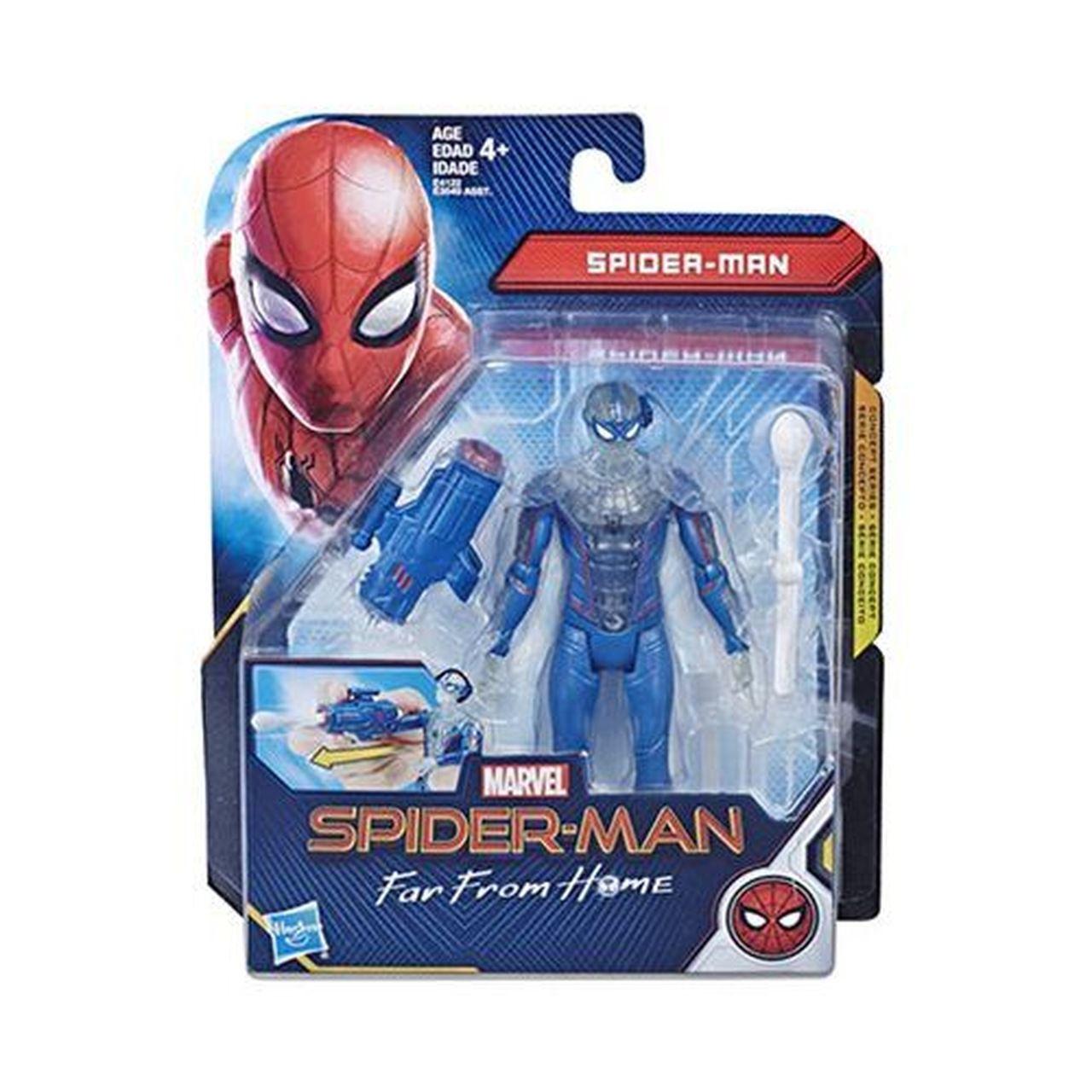 Action Figure Homem-Aranha Techno Traje 6'':Longe De Casa (Spider-Man Far From Home) Boneco Colecionável - Hasbro