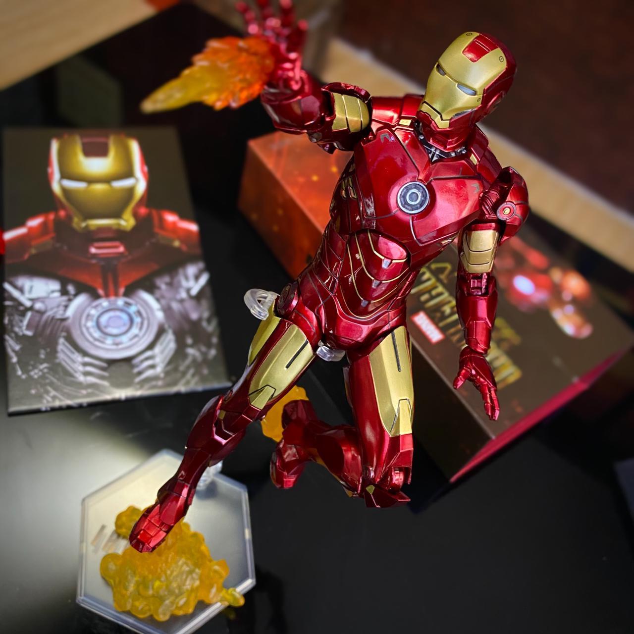 Action Figure Homem de Ferro: Homem de Ferro 2 Iron Man 2 Mark IV Mark 4 Marvel - EV