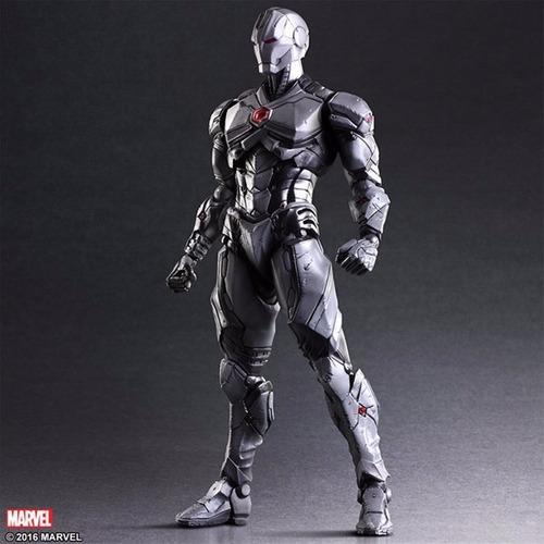 Action Figure Homem de Ferro Iron Man Armadura Cinza Vingadores Avengers Marvel Kai Escala 1/6 Play Arts  - EVALI