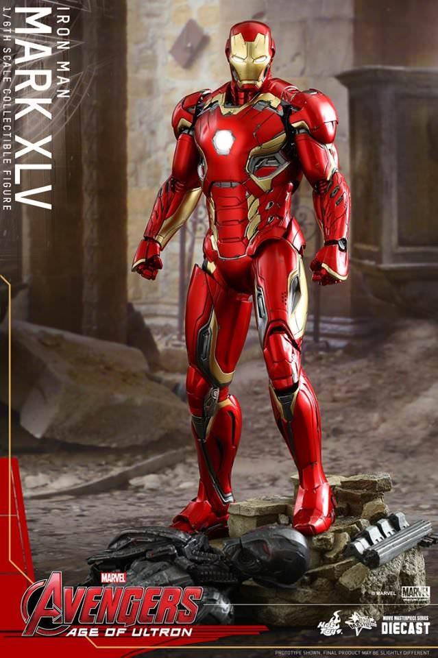 Action Figure Homem de Ferro Iron Man Mark 45 XLV A Era de Ultron Age Of Ultron Escala 1/6 MMS300 D11 DieCast Marvel - Hot Toys