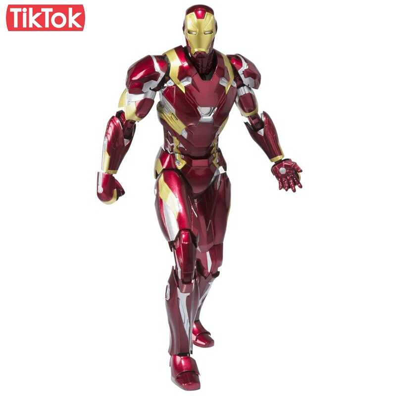 Action Figure Homem De Ferro Iron Man Mark 46: Guerra Civil Civil War Marvel - Western Animation