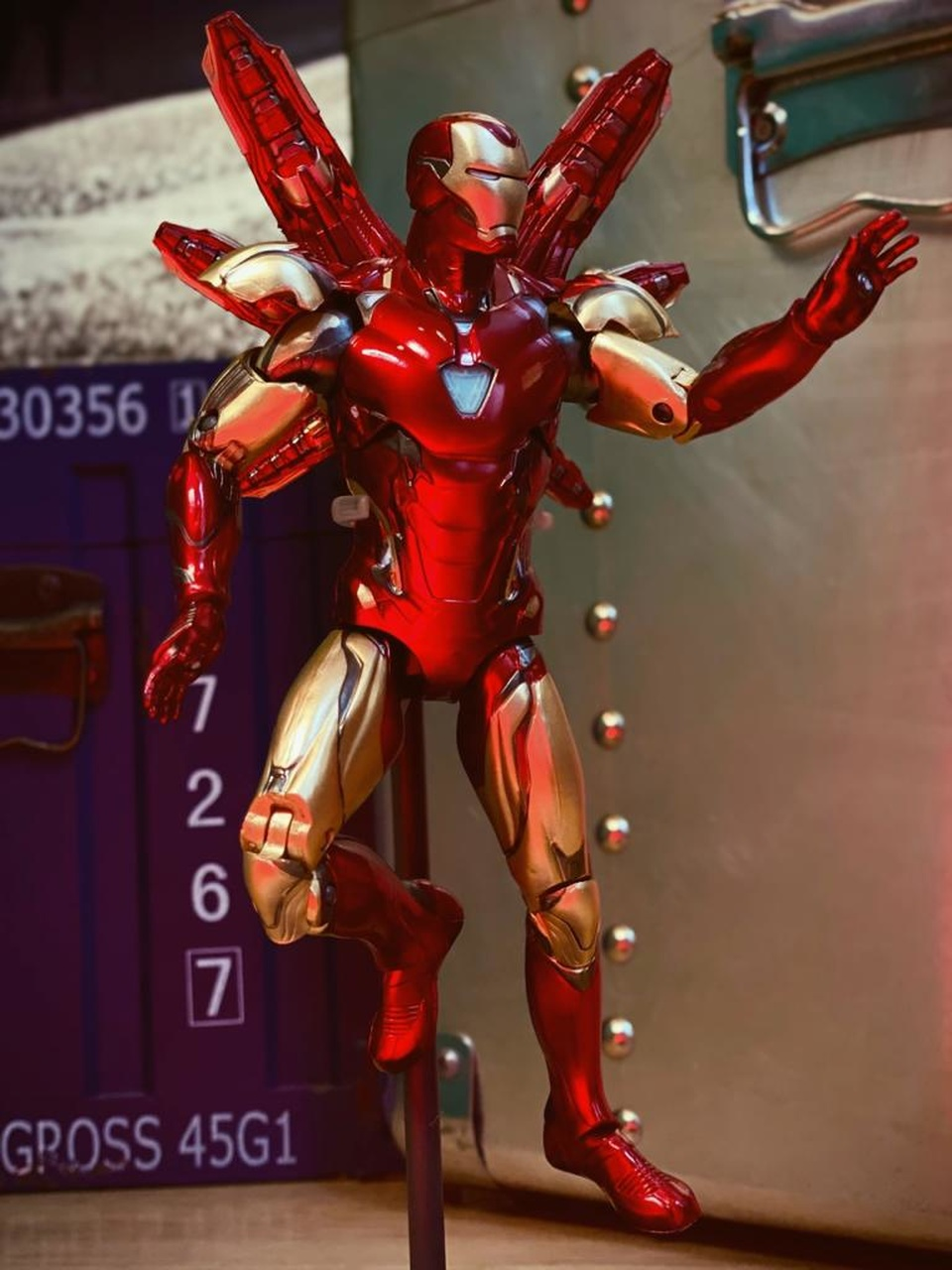 Action Figure Homem de Ferro Iron Man Mark 85: Vingadores Ultimato Avengers End Game