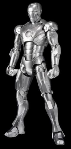 Action Figure Homem de Ferro (Iron Man) Mark II e Expositor de Armadura (Hall of Armor Set): S.H.Figuarts - Bandai - CD