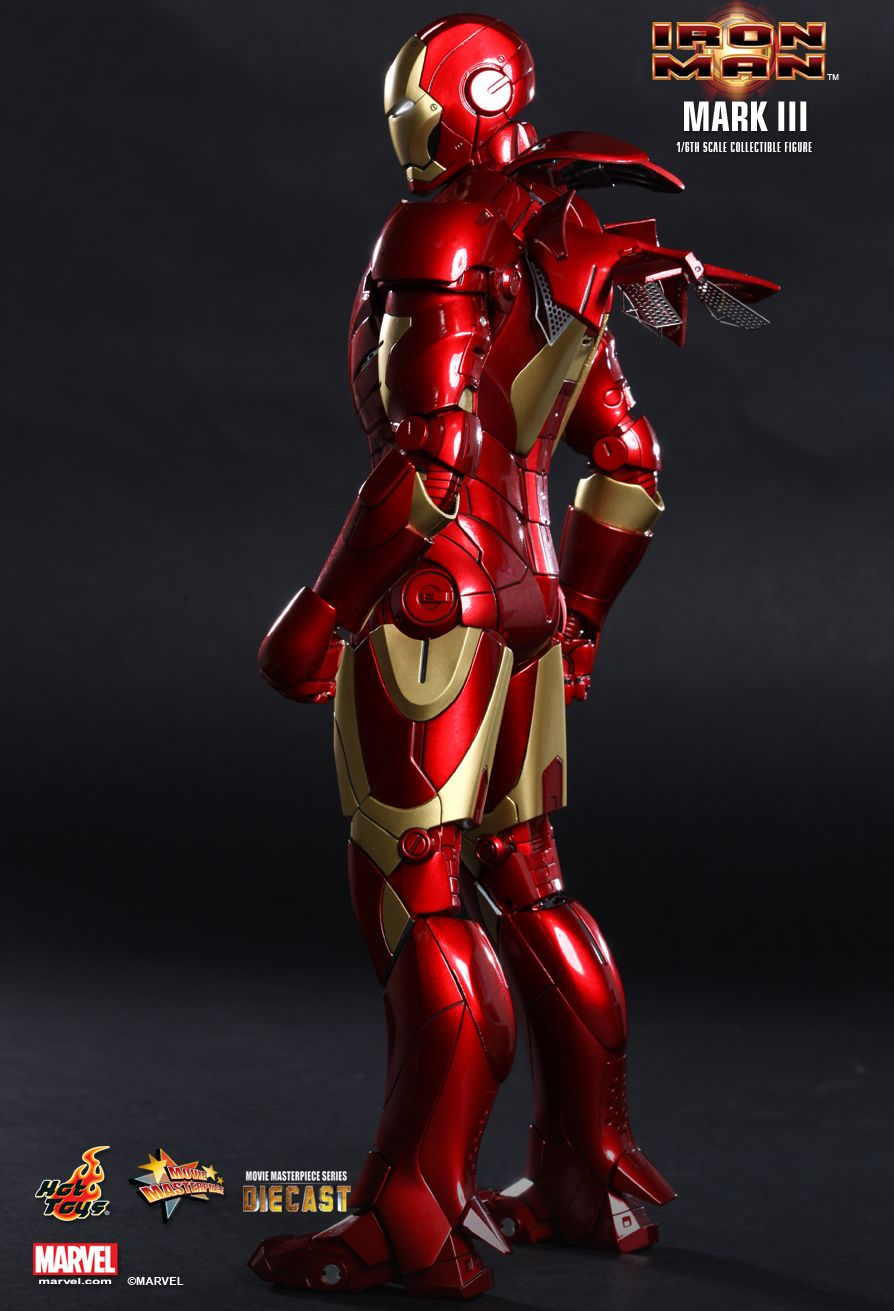 Action Figure Homem de Ferro (Iron Man) Mark III: Homem de Ferro (Iron Man) MMS256D07 (Diecast) Escala 1/6 - Hot Toys