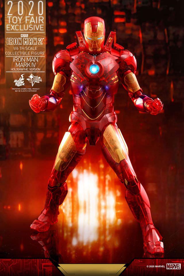 Action Figure: Homem de Ferro (Iron Man)  Mark IV (Holographic Version): Homem de Ferro 2 Escala 1/6  (Exclusivo) MMS568 - Hot Toys