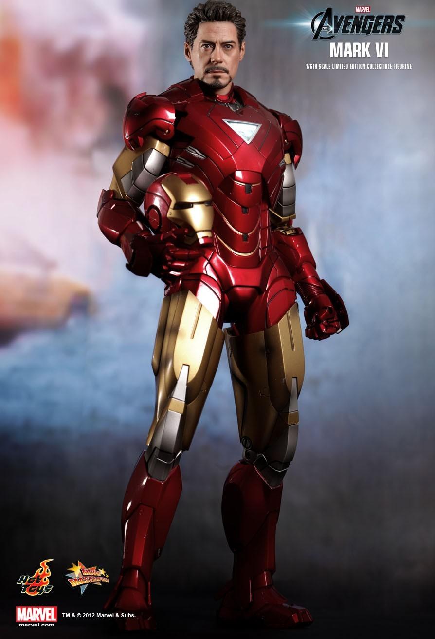 Action Figure Homem de Ferro (Iron Man) (Mark VI): Vingadores (Avengers) (Escala 1/6) - Hot Toys