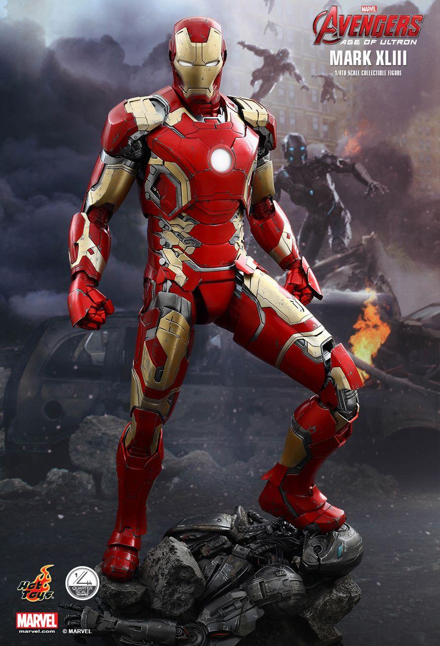 Action Figure Homem de Ferro (Iron Man) Mark XLIII: Era de Ultron (Age of Ultron) Escala 1/4 (QS005) Marvel - Hot Toys