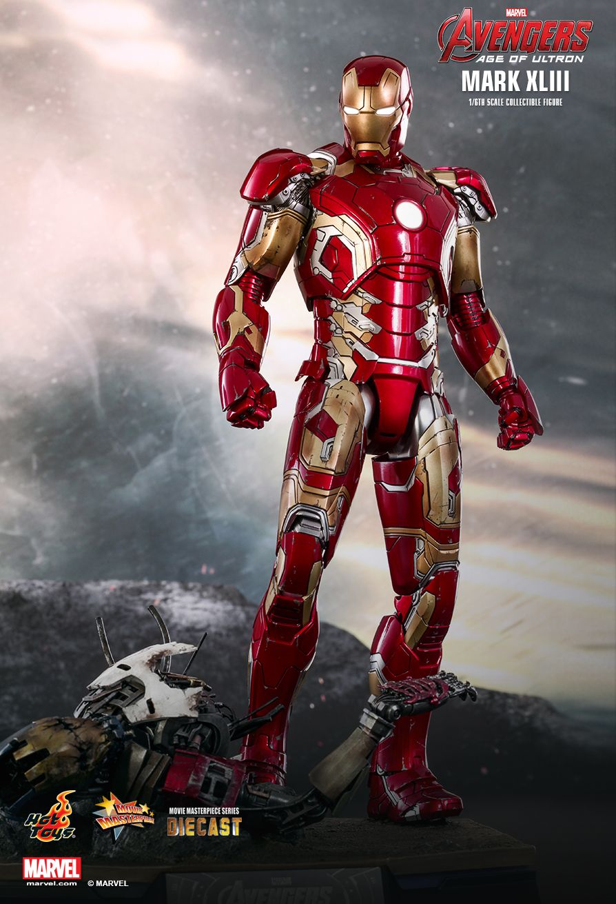Action Figure Homem de Ferro (Iron Man) Mark XLIII: Vingadores Era de Ultron (Avengers: Age of Ultron) Diecast (MMS278D09) Boneco Colecionável Escala 1/6 - Hot Toys (COMPLETO)