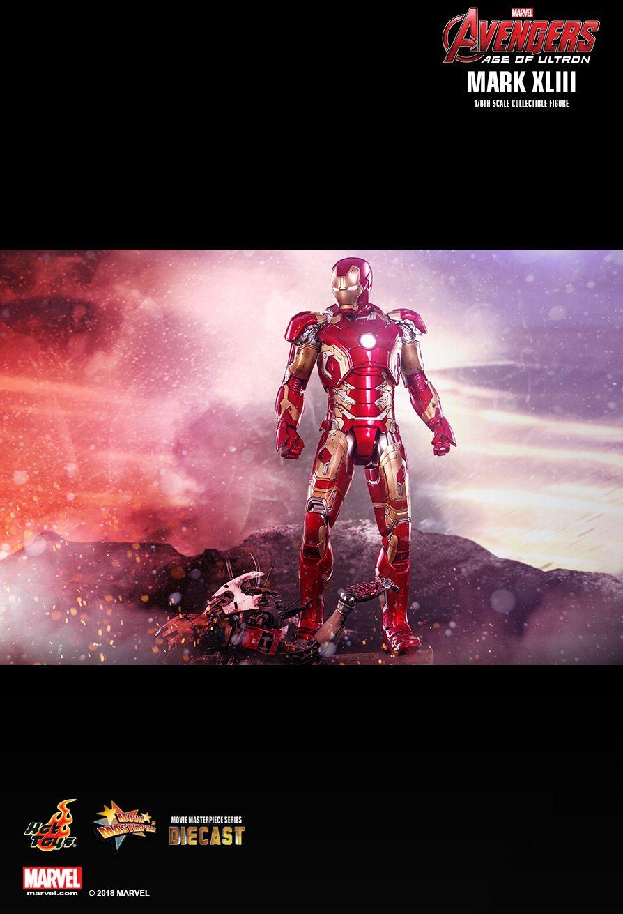 Action Figure Homem de Ferro (Iron Man) Mark XLIII: Vingadores Era de Ultron (Avengers: Age of Ultron) Diecast (MMS278D09) Boneco Colecionável Escala 1/6 - Hot Toys (COMPLETO)