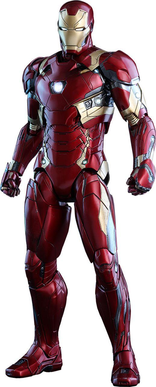 Action Figure Homem de Ferro Mark 46 (Iron Man Mark XLVI): Capitão América Guerra Civil (Captain America Civil War) MMS353D16 - Hot Toys