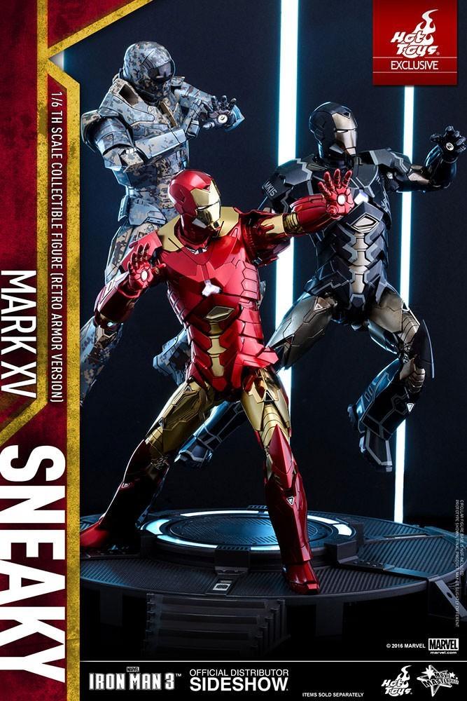 Action Figure Homem de Ferro (Iron Man) Mark XV: Homem de Ferro 3 (Iron Man 3) Escala 1/6 (MMS396) - Hot Toys